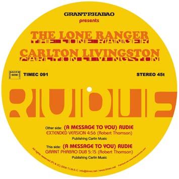 carlton livingston lone ranger a message to you rudie produced by grant phabao